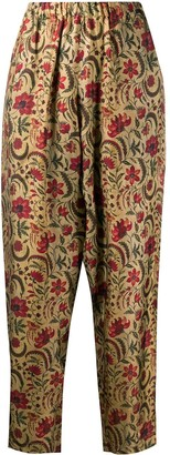 UMA WANG Tapered Floral Print Trousers