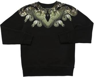 Marcelo Burlon County of Milan Snake Print Cotton Sweatshirt