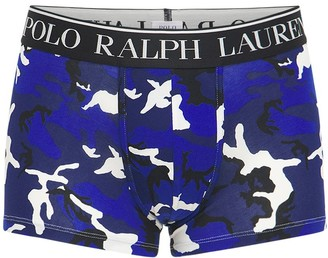 Polo Ralph Lauren Camo Printed Cotton Blend Boxer Briefs