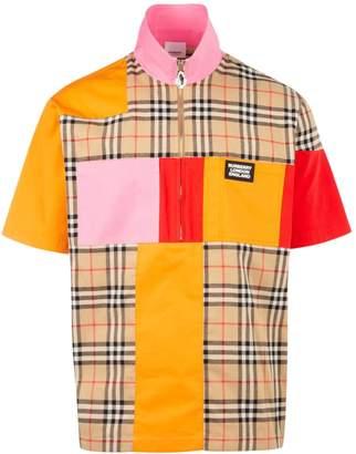 Burberry Colour Block Half-Zip Shirt