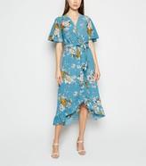 New Look Mela Floral Dip Hem Midi Dress