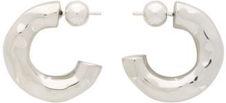 Sophie Buhai Silver Small Giacometti Hoop Earrings