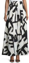 Nic+Zoe Graphic-Print Pleated Maxi Skirt, Petite