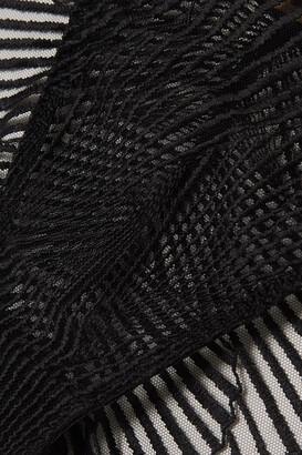 Coco de Mer Athena Embroidered Tulle Briefs - Black
