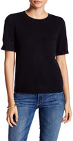 Susina Short Sleeve Pocket Cashmere Sweater (Petite)