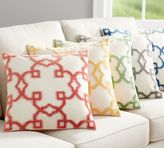 Pottery Barn Trellis Velvet Appliqué Pillow Cover