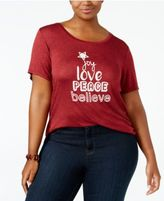 NY Collection Plus Size Joy Graphic T-Shirt