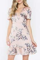 Sugar Lips Satin Floral Dress