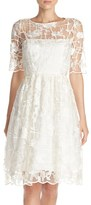 Adrianna Papell Women's Embroidered Fit & Flare Dress