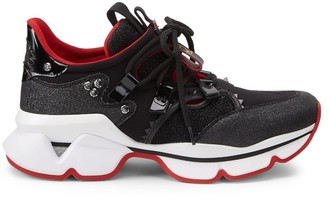 Christian Louboutin Red Runner Donna Glitter Sneakers