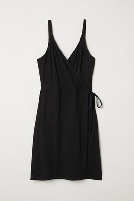 H&M Modal-blend Wrap Dress - Black
