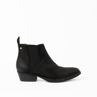 Sneaky Steve Whole Suede Black Boots - 37
