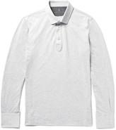 Brunello Cucinelli - Mélange Cotton-jersey Polo Shirt