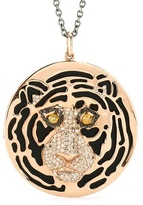 Ileana Makri 18kt Rose Gold African Tiger Necklace With Onyx And Black, Yellow And Brown Diamonds