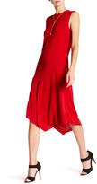 DKNY Layered Asymmetrical Hem Midi Dress
