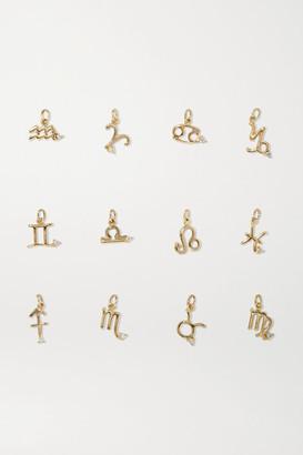 STONE AND STRAND Zodiac 14-karat Gold Diamond Necklace