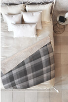Deny Designs Lisa Argyropoulos Dark Gray Plaid Fleece Throw Blanket