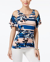 Thalia Sodi Thali Sodi Off-The-Shoulder Printed Top, Only at Macy's