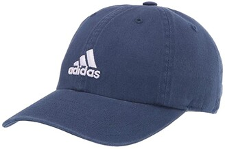 adidas Saturday Relaxed Adjustable Cap (Tech Indigo Blue/Purple Tint) Baseball Caps