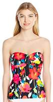 Anne Cole Women's Growing Floral Bandeau Tankini