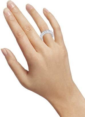 Sterling Forever Crystal and Sterling Silver Band Ring