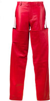 Y/Project Y / Project high-waisted Leather Trousers with Detachable Chaps