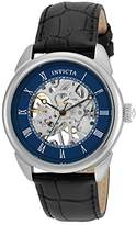 Invicta Men's 'Specialty' Mechanical Hand Wind Stainless Steel and Leather Casual Watch