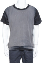 Thumbnail for your product : Amiri Black & Grey Cotton Washed Out Effect Shotgun T Shirt S