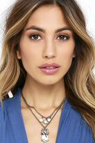 LuLu*s Aria Gold and Light Pink Layered Necklace