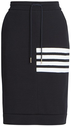 Thom Browne Waffle Knit Striped Skirt
