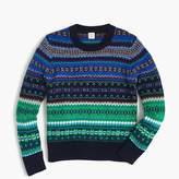 J.Crew Boys' ombre Fair Isle crewneck sweater