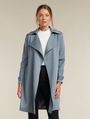 Forever New Kim Petite Trench Coat - Blue - 4