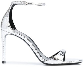 Saint Laurent Metallic High Heel Sandals