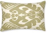 Silk Ikat Medallion Lumbar Pillow Cover, Neutral