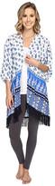PJ Salvage Coastal Blue Print Kimono