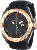 Oceanaut Men's OC1111 Racer and Gold-Tone Stainless Steel Watch with Silicone Band
