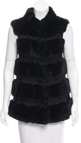 Diane von Furstenberg Fur & Leather-Trimmed Vest