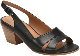 Comfortiva Leather Slingback Dress Sandals - Alonna