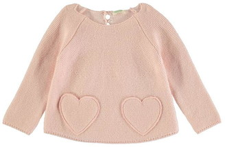 Benetton Heart Knit Jumper