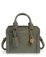 Alexander McQueen 'Mini Padlock' Calfskin Leather Satchel - Black