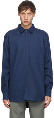 GR10K Navy Klopman FR Glove Panel Overshirt