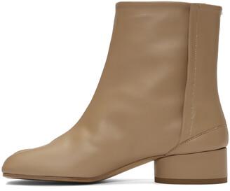 Maison Margiela Tan Low Heel Tabi Boots
