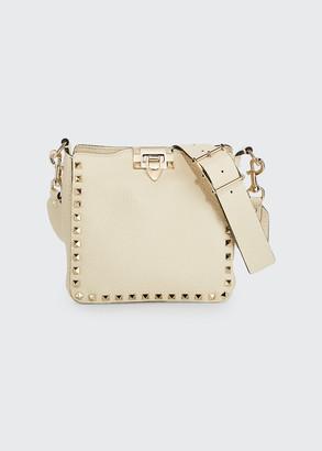 Valentino Rockstud Mini Vitello Stampa Leather Hobo Bag