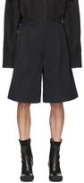 Random Identities Navy Oversized Tailored Shorts