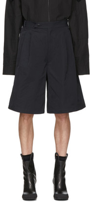 Random Identities Navy Oversized Tailored Shorts