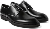 Dolce & Gabbana - Contrast-trimmed Polished-leather Derby Shoes