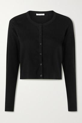 Ninety Percent Cropped Pointelle-knit Organic Cotton Cardigan