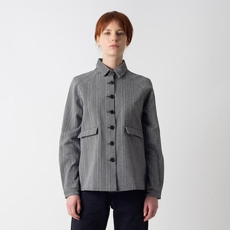 Kate Sheridan Mono Weave A Line Jacket - M/L - Grey/White
