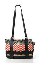Missoni Multi-Color Leather Abstract Print Shoulder Handbag Size Medium