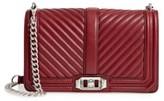 Rebecca Minkoff Love Leather Crossbody Bag - Red